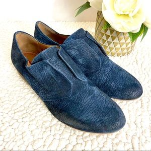 Miss Sixty Marlene Navy Blue Suede Oxford Shoes